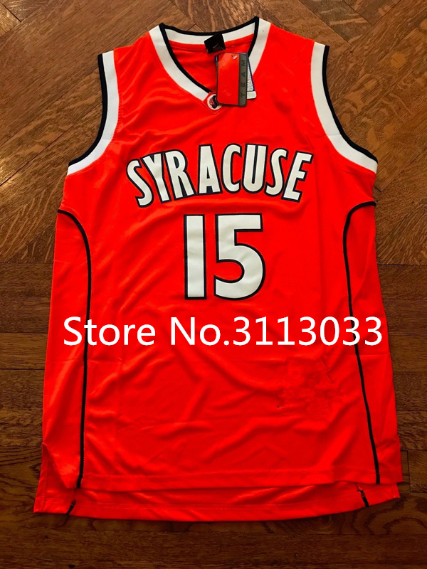 9319697f2bb ... Vintage Syracuse Orangemen 15 Carmelo Anthony College Basketball Jersey  All Size Embroidery Stitched Custom any Number ...
