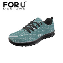 FORUDESIGNS Lady Vulcanized Casual Shoes Fashion 3D Science Graffiti Sneakers Zapatos Tenis Feminino Women Travel Lace-up Shoe
