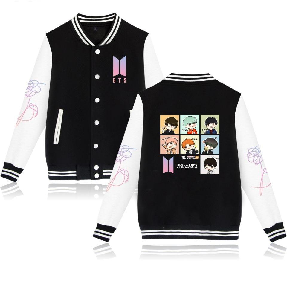 K Pop BTS K-pop Winter Jacke Frauen Bangtan jaqueta feminina Mode mantel Frauen//männer Weibliche jaqueta Fans casual Baseball Jacke