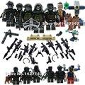 Soldados Del Ejército militar WW2 fgures bloque de construcción con wepons y pistolas para niños juguetes de regalo
