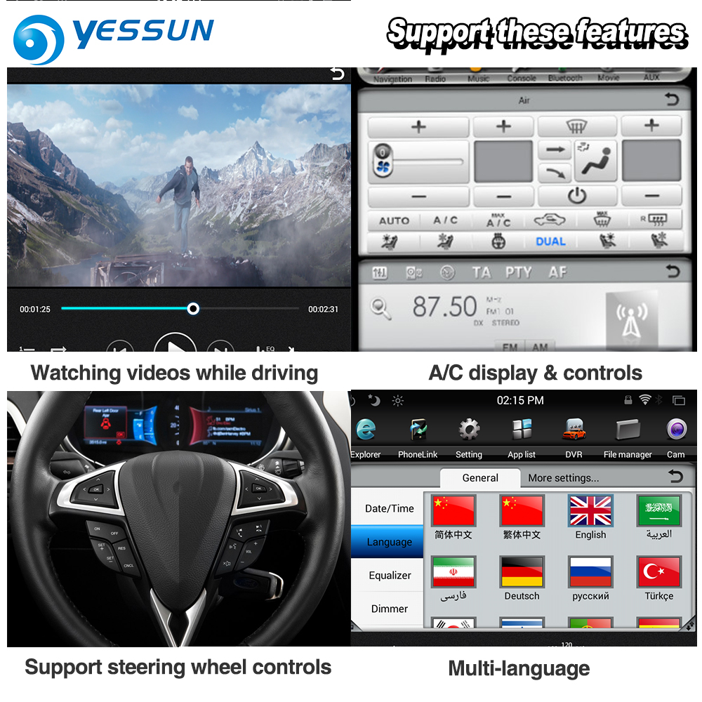 YESSUN 10.4 ''HD Pour Gamme Pour Rover Sport 2009 ~ 2013 autoradio Android GPS Navi maps Navigation original style multiemdia NO DVD - 6