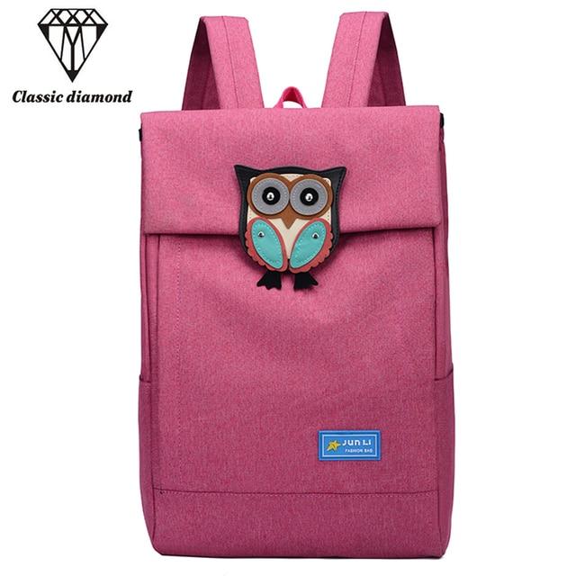 Cute Owl Student Backpack Cartoon Applique Laptop Backpacks For Teenage Girls  School Bag Casual Black Printing c65e4e96b63b3