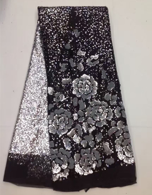 Free shipping african cord lace guipure lace fabric quality water soluble sequins lace fabric for sewing lace dressFree shipping african cord lace guipure lace fabric quality water soluble sequins lace fabric for sewing lace dress