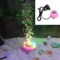 Hot Sale Aquarium Mini Colorful Lamp Submersible Light Fish Tank Accessory Aquarium Decorations Plastic Air Curtain Bubble Stone