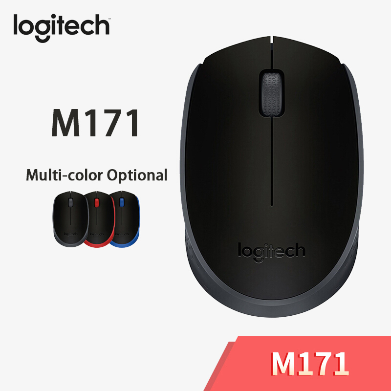 Logitech Original M171 2.4GHz Wireless Gaming Mouse With Nano Receiver 1000 DPI For PC/Laptop Game Mouse By Free Shipping
