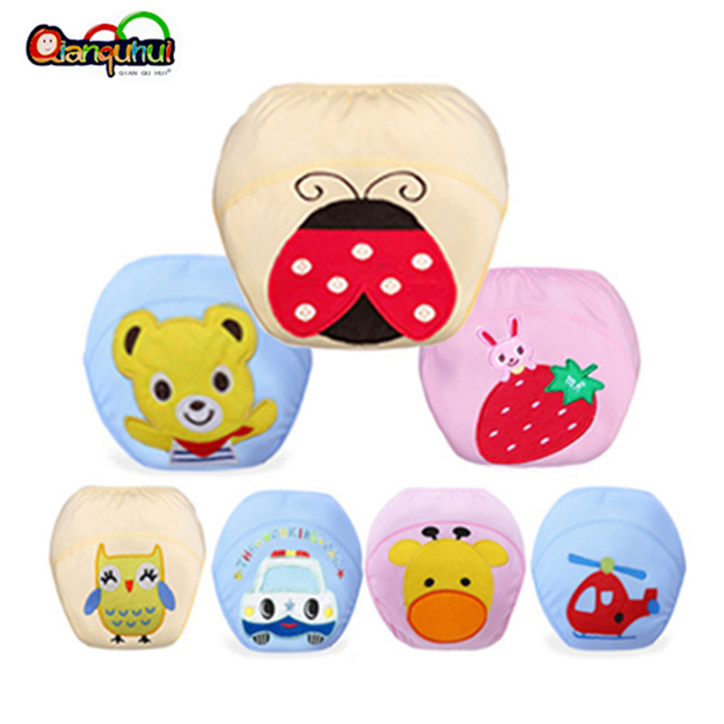 Baby Newborn Cotton Reusable Nappy Diaper  Waterproof Training Pants Boy Girl Underwear Washable Panties Cloth Diaper Cover