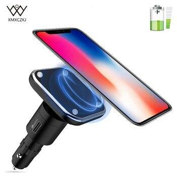 Qi Draadloze Oplader Magnetische Auto Mount Magneet Draadloze USB Charger Sigaret Telefoon Houder Charing Dock Voor iPhone X Samsung S8