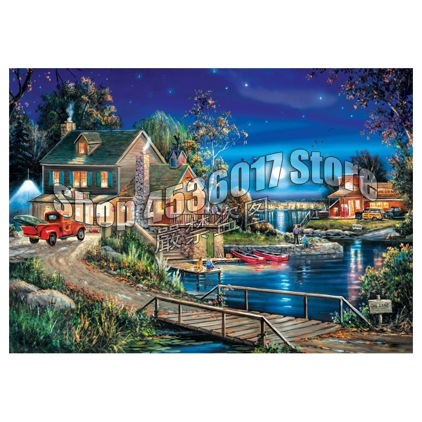 Diamond Painting Cross Stitch Cabins, Cottages, Houses Lakes & Rivers Handicraft Diamond Embroidery 5D DIY Diamond Mosaic Gifts