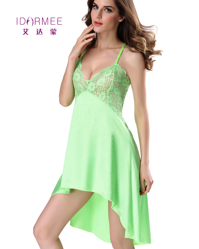 idarmee s6560 ladies sexy lingerie satin lace style nightgown sexy