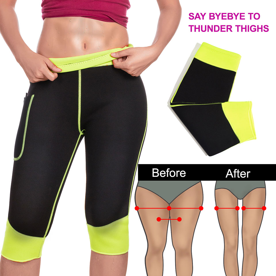 a10eb10229 Junlan Control Pants Slimming Shorts Shaper for Reducing Neoprene Bottom  Shapewear Workout Waist Trainer Tummy Body Controller