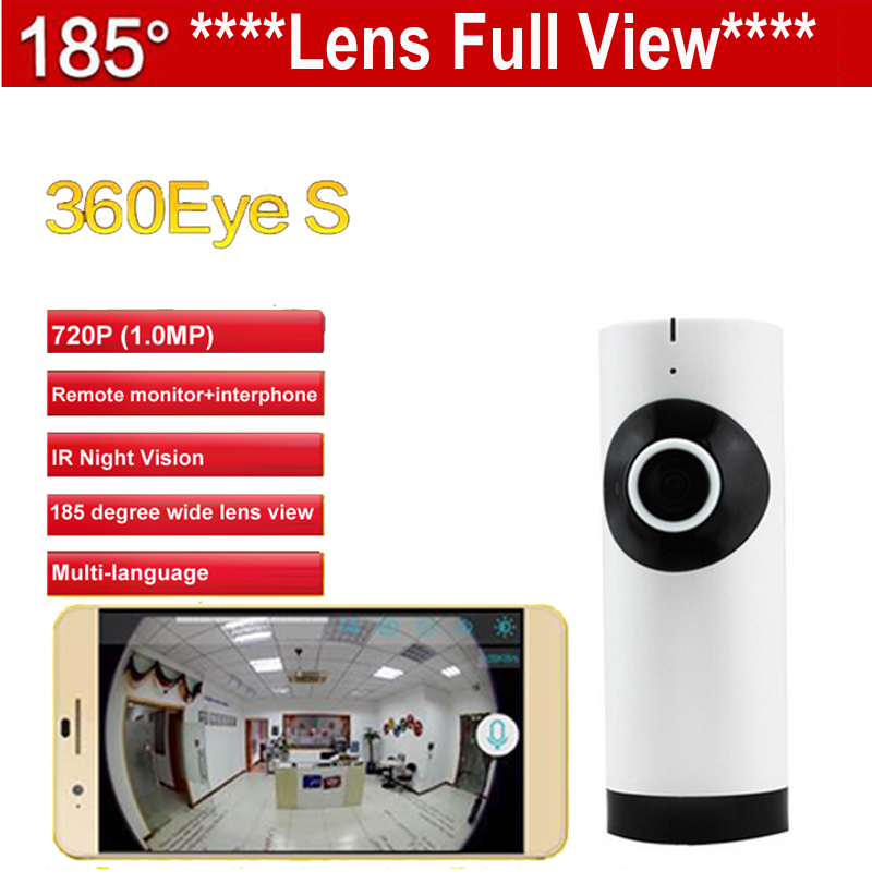 EC2 185 degree lens 360eye S IPC WiFi camera Panoramic IP Camera HD 720P baby monitor Camera Wireless IP camera Night Vision 185 degree fish eyes lens ir night vision 720p cmos wireless ip camera
