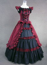 Victorian Classic Dress Lolita Vintage Cosplay Women's Theater Palace Style Dress