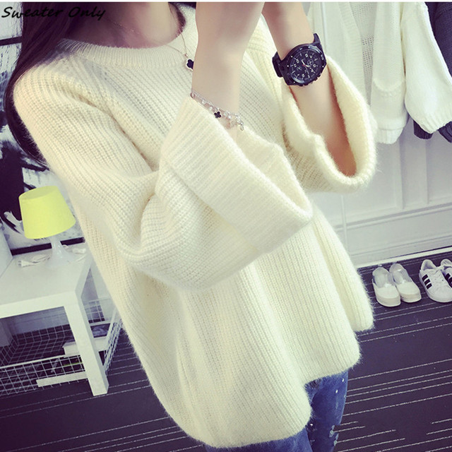 2016 new hot sale women's autumn winter pullovers short paragraph female student college wind loose shirt woman sweaters