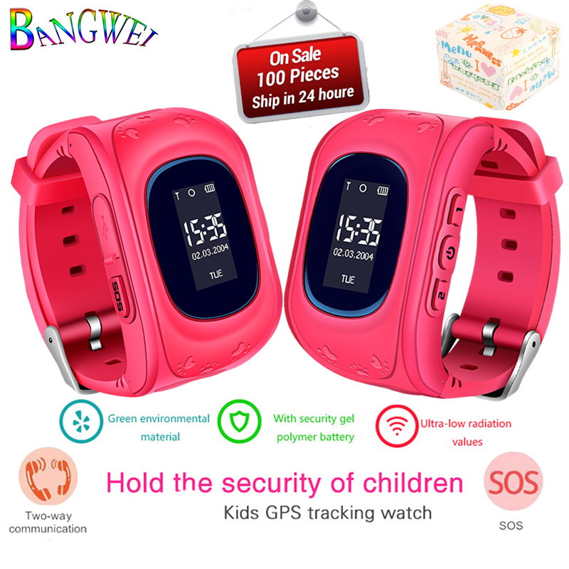 BANGWEI 2019 New Kids Smart Watch Pedometer Waterproof LED LBS Positioning Watch SIM Call For Gift Children Smart Watches+Box