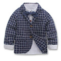 children clothing kids boys jackets coats spring plaid gentleman boys kids coats for boys