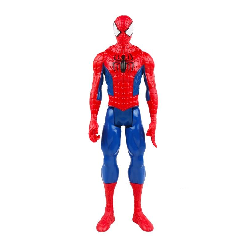 30 см Marvel Мстители игрушки танос Халк Бастер человек паук Железный человек Капитан Америка Тор Росомаха Черная пантера фигурка куклы - Цвет: spiderman no box
