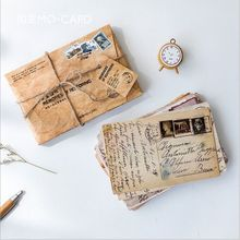 30Pcs/pack Retro memories of yellowed old letters Nostalgic Past Postcard Greeting Card Envelope Gift Birthday Card Message Card
