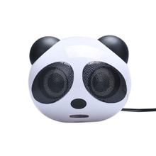 Cartoon Design Cheap Plastic Panda Mini Portable Subwoofer Speaker Music Player for Computer Desktop