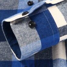 Langmeng 2017 5XL Autumn Male Casual Shirt Men long sleeve plaid dress shirt mens 100% Cotton flannel shirts camisa masculina