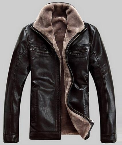 Factory Men Leather Jackets Genuine Real Sheepskin Leather Fashion Brand Short Man's Motorcycle Biker Coat