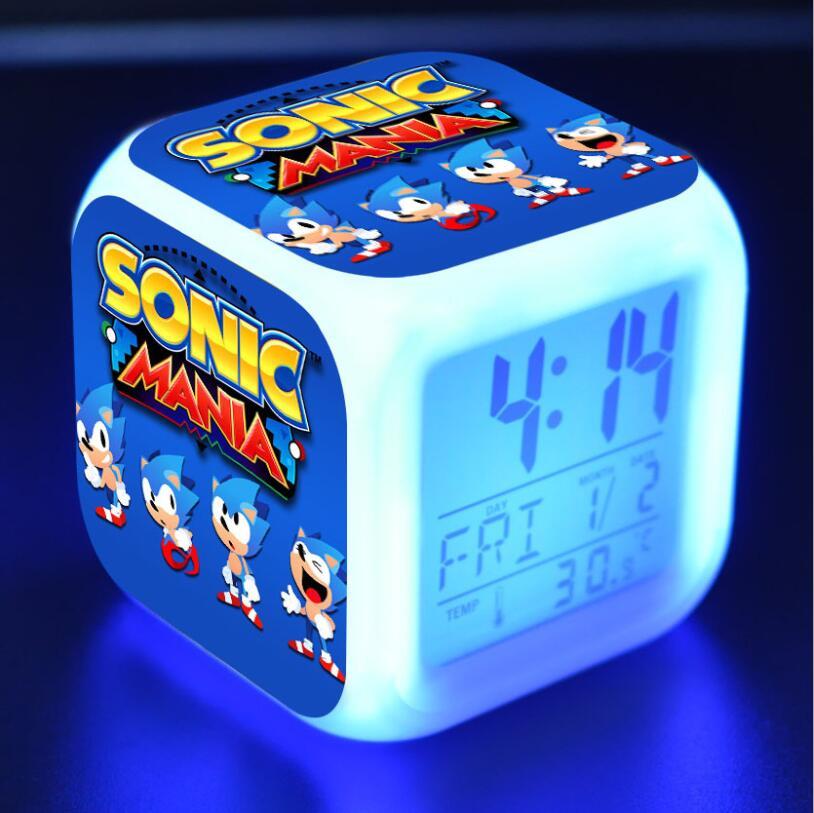 Sonic The Hedgehog LED Cube Alarm Clock 21