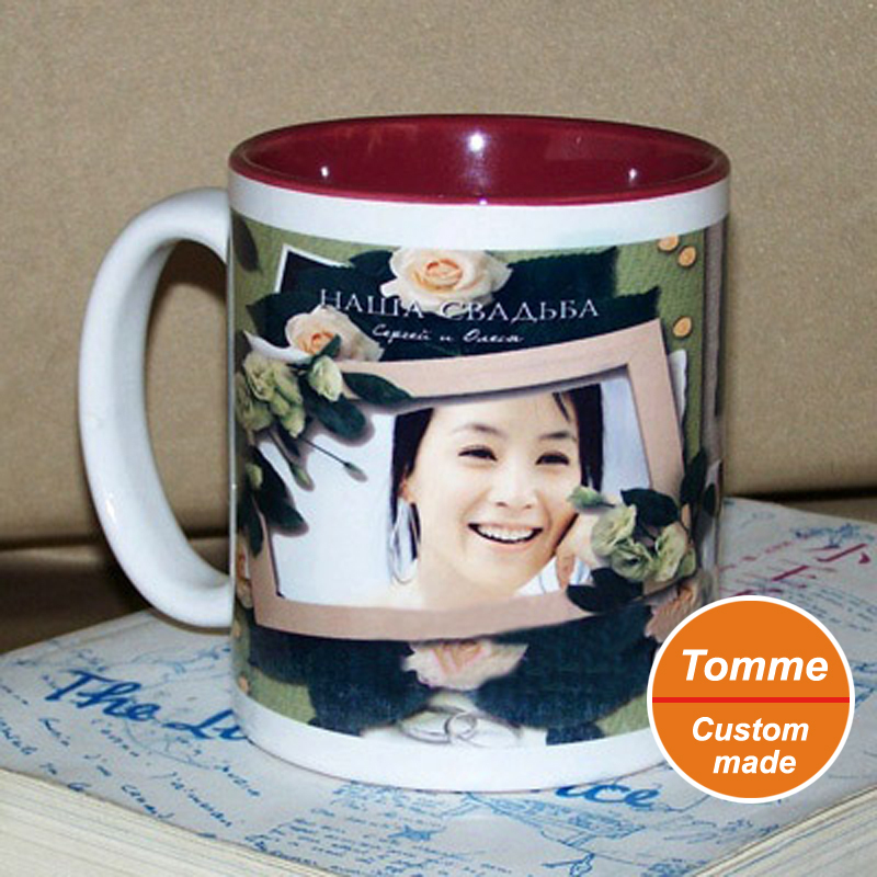 Personality Custom Made Diy Inside Colorful Cup Coffee Mug Pouring Print Your Photo Painting Picture Promos Logo Gift In Mugs From Home Garden On