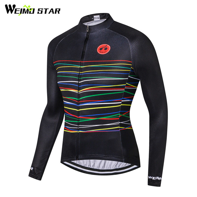 Weimostar 2019 Long Sleeve Cycling Jersey pro Team Racing Sport Bicycle Clothing Ropa Ciclismo Raod mtb Bike Jersey Cycling Wear