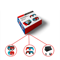 10 In 1 Game Accessories for Nintends Switch with 4 X Steer Wheel Handle 4 X Controller Grips Type C Cable Charger