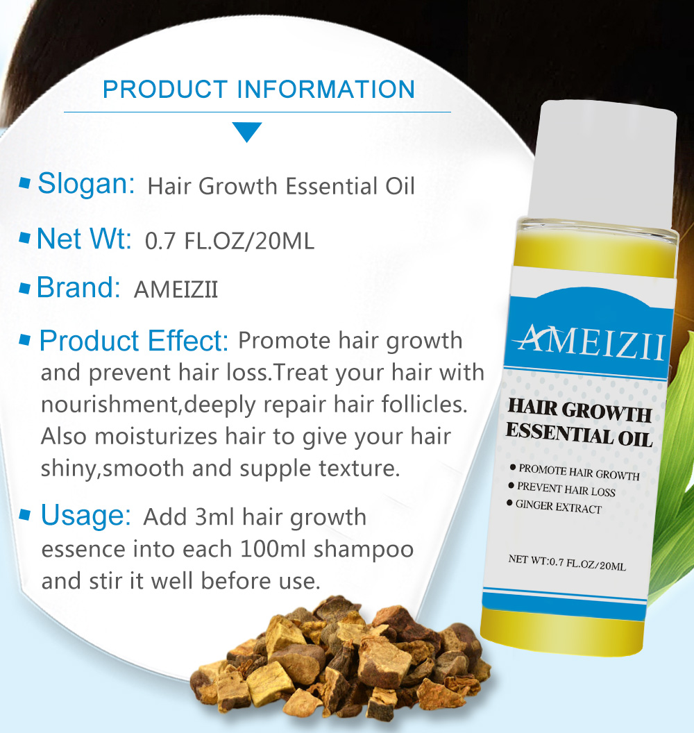 AMEIZII Hair Growth Essential Oil Essence Natural Hair Loss Liquid Hair Care Beauty Treatment Preventing Dense Hair Growth Serum 4