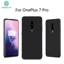 For OnePlus 7 Pro Case NILKIN Synthetic Fiber Plastic Cell Phone Cover Cases Shell