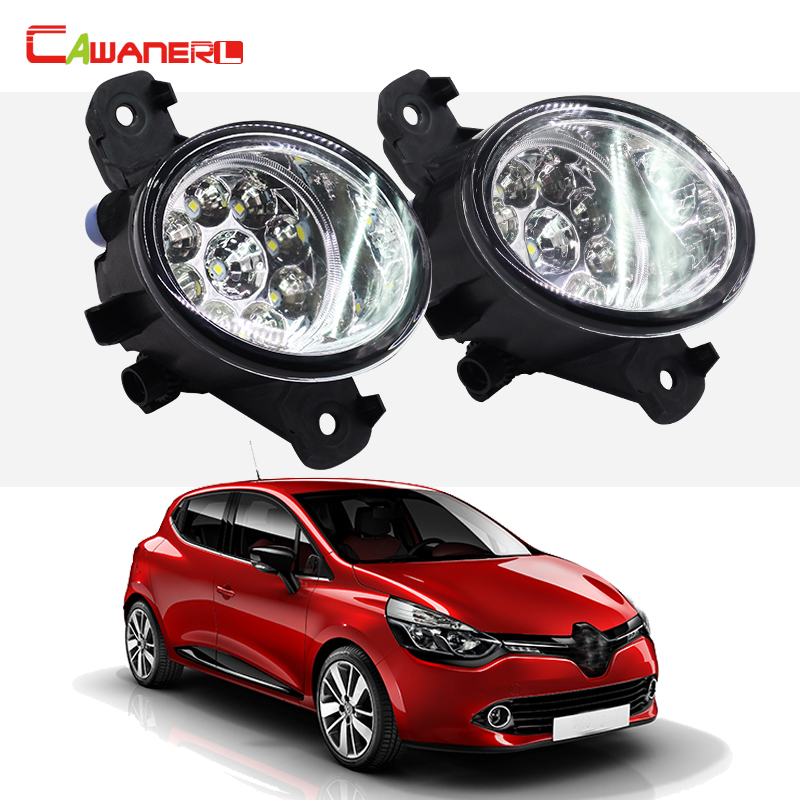cawanerl 1 pair car styling fog light led light daytime running light for renault clio 3 iii. Black Bedroom Furniture Sets. Home Design Ideas