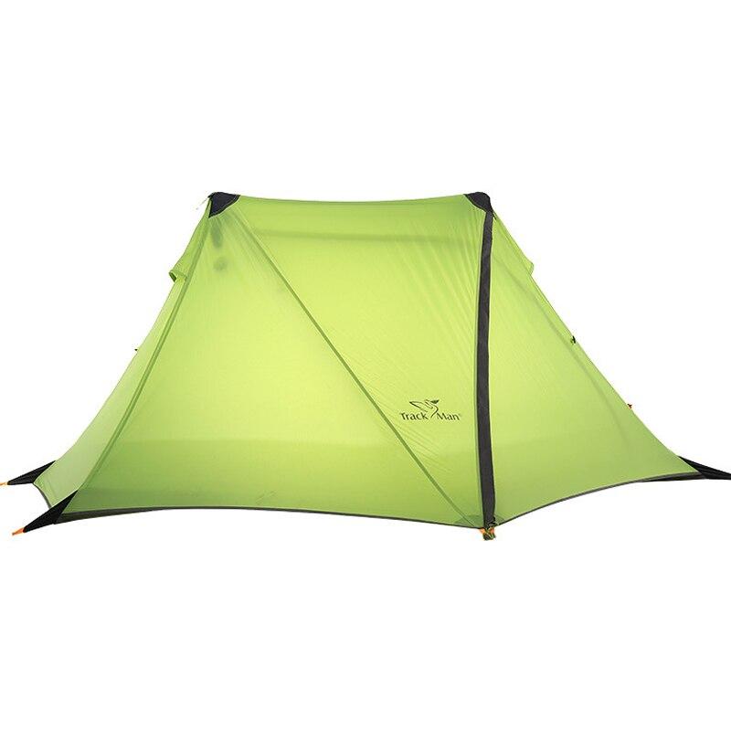 ultra light 1 Person Oudoor Ultralight Camping Tent 4Season Professional 2D Silnylon Rodless Tent 210t oudoor light weight backpacking ultralight camping rodless pyramid tent for hiking camping fishing wind firm waterproof