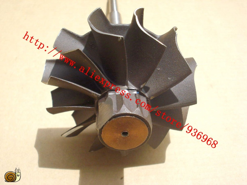 K27 Турбокомпрессоры Запчасти вал турбины и размер колеса 62.6 мм * 70 мм, 12 лезвия, поставщик AAA Турбокомпрессоры Запчасти