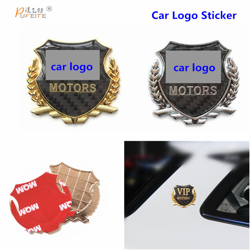 3D car stickers for volvo VW fiat hyundai Metal Emblem Badge Car Logo Sticker car accessories 1pcs 3d metal s5 car front grille adhesive emblem badge stickers accessories styling for audi a5 s5