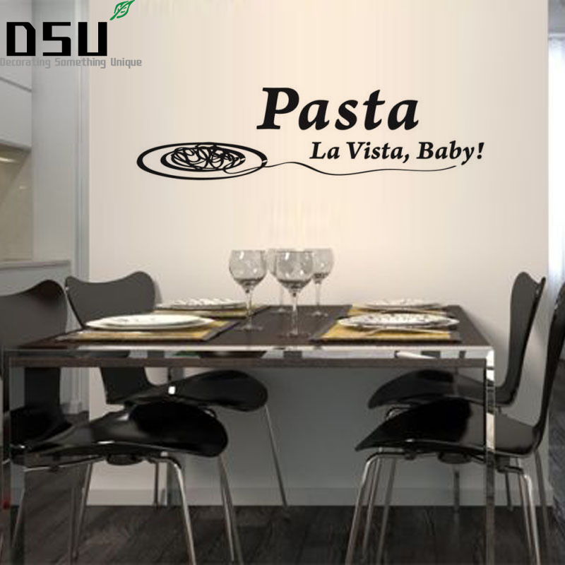 Pasta La Vista Baby Wall Sticker Spanish Dining Room Removable Vinyl Self Adhesive Meal Espanol Wall Decal Wallpaper