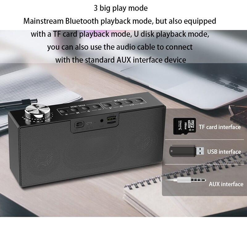 Réveil numérique LCD alarme Audio téléphone Mobile Radio Bluetooth 4.2 haut parleur intelligent alarme bureau horloge fiche carte invite vocale - 5