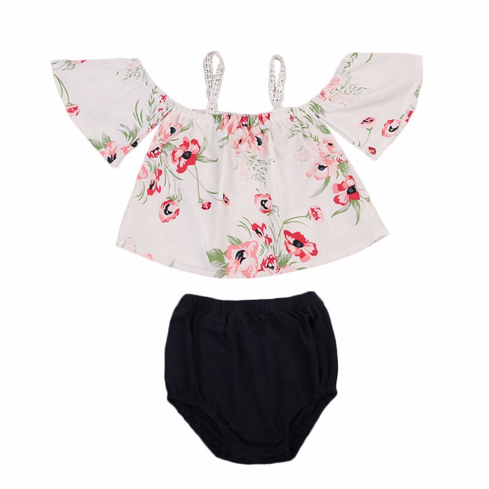 Baby Girls Clothes Set 2017 New Summer Newborn Baby Girl Clothing Cotton Short Sleeve Pant 3PCS/Set baby girl summer clothes 3pcs mini mermaid newborn baby girl clothes 2017 summer short sleeve cotton romper bodysuit sea maid bottom outfit clothing set