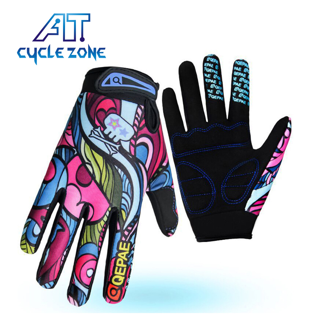 Qepae Men&Women Cycling Gloves Gel Full Finger MTB Bicycle Anti-slip Shockproof Gel Bike Ciclismo guantes Breathable Padded Palm qepae f7506 comfortable professional motorcycle bicycle full finger gloves red black pair xl