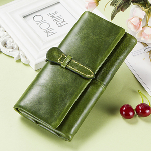 Image 5 - 本革の女性は女性クラッチ財布ブランドマネーバッグ女性ジッパーコイン財布portomoneeカードホルダー