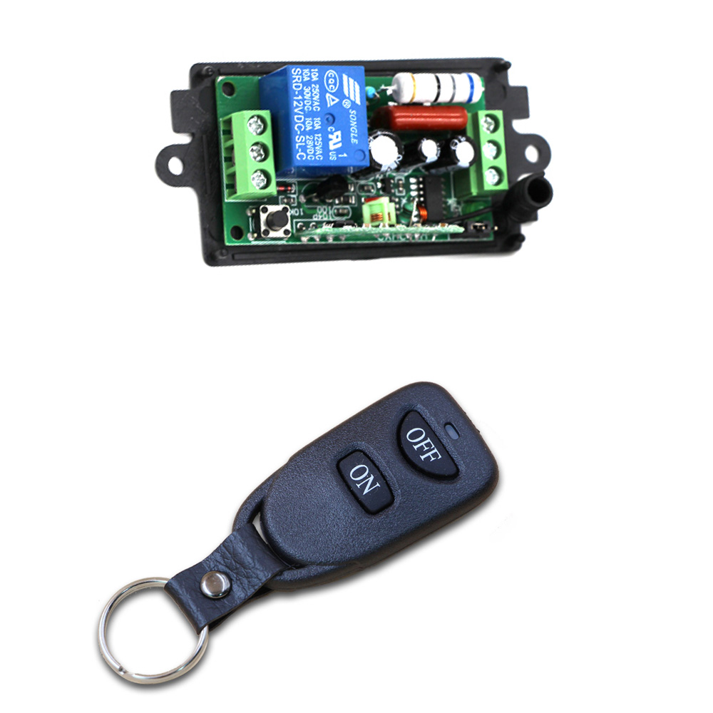 Hot Sale On Off Key Ac 220v 110v 10a 1ch Wireless Rf Remote Control Relay Switch Circuit Transmitter Receiver Sales