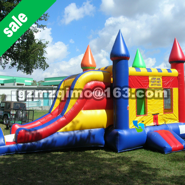 MZQM 8*4 M FREE SHIPPING BY SEA PVC Commercial Combo Inflatable Bouncer With Slide For Sale free by sea cartoon printing inflatable bouncer inflatable bouncer slide combo commercial inflatable bouncy castle for sale