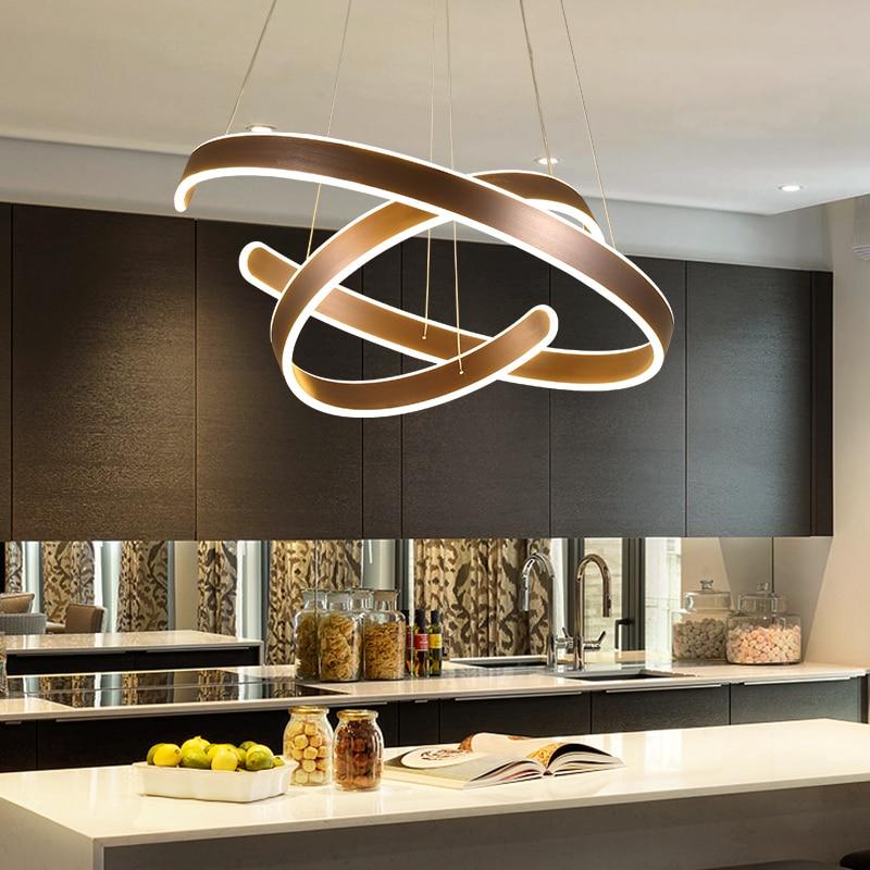 AC90 264VModern pendant lights for living room dining room Geometry Circle Rings acrylic aluminum body LED Innrech Market.com