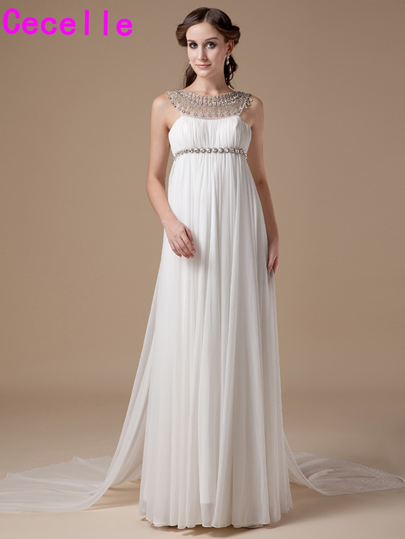 Compare prices on empire waist chiffon wedding dress online real photo 2017 informal chiffon maternity wedding dresses gowns empire waist crystals bridal gowns for pregnant ombrellifo Images