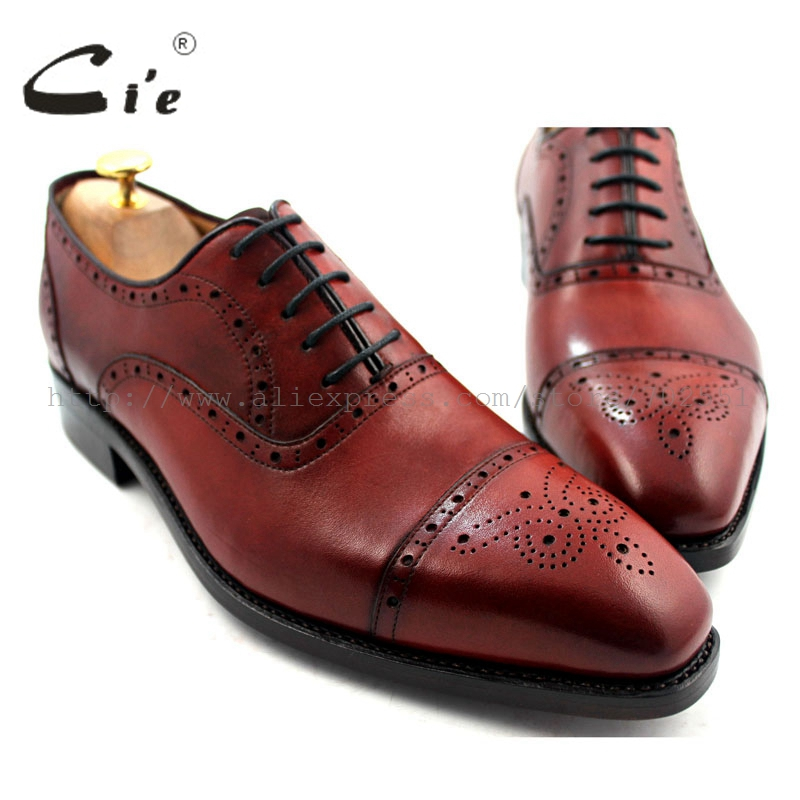 cie Free Shipping Semi Brogues Handmade Genuine Calf Leather Men s Dress Oxford Shoe Color Painted