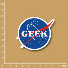 NASA GEEK funny Notebook/refrigerator/skateboard/trolley case/backpack/Tables/book PVC sticker