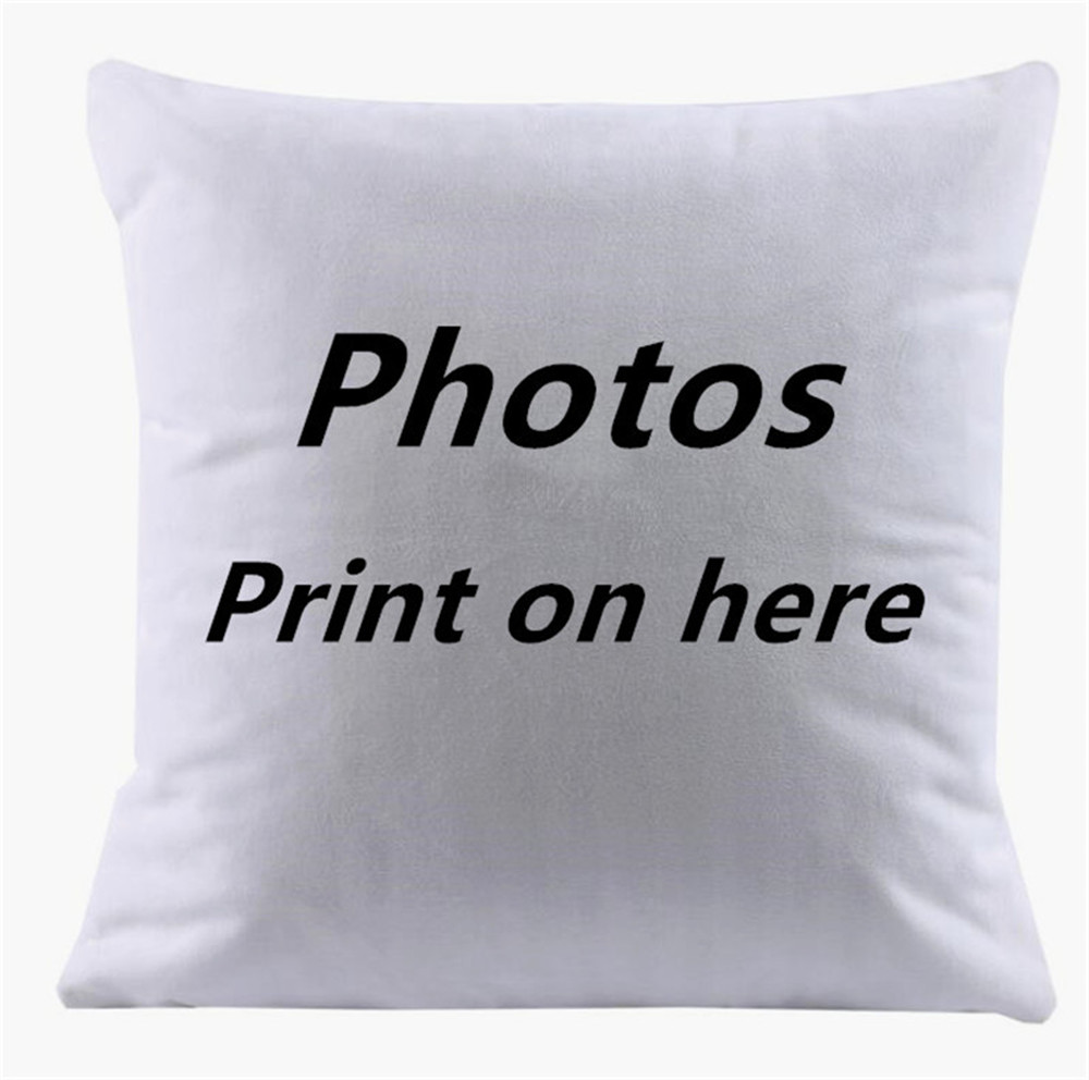 Design Picture here Print Pet wedding personal life photos customized gift home deco cushion cover pillow case capa de almofadas