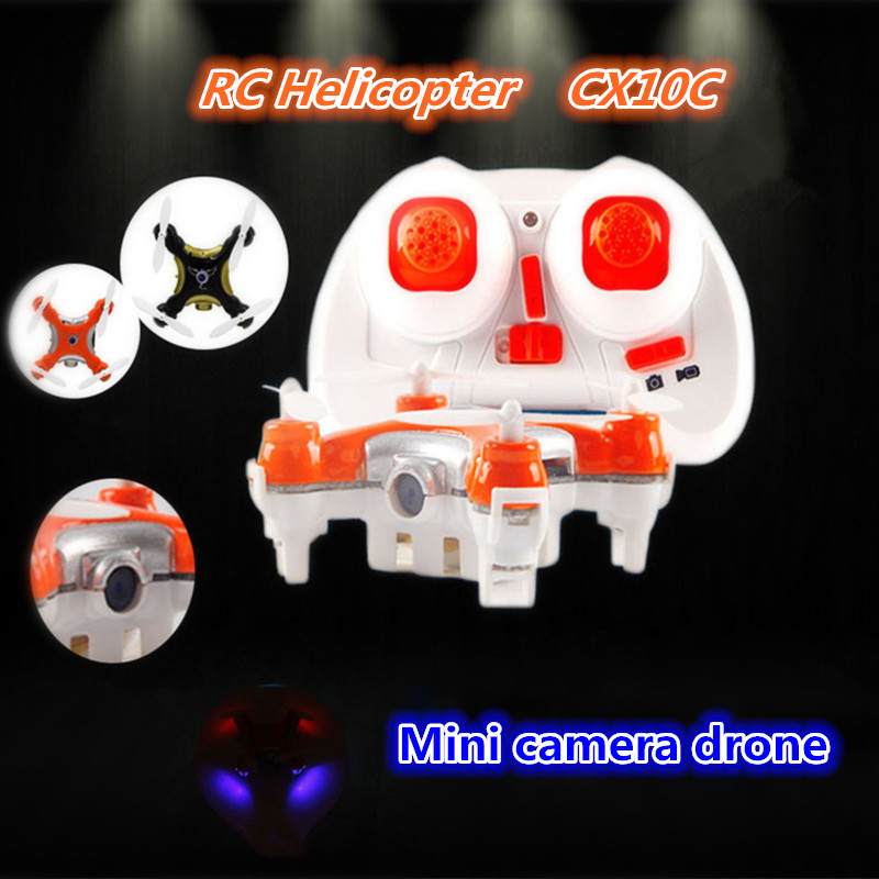 Dron Quadrocopter Cheerson CX-10C CX10C Pocket Drone With Camera 4CH 6Axis Gyro Mini RC Quadcopter VS Cheerson CX-10 CX10D cheerson cx 95w rc helicopter tiny drone with camera wifi fpv racing mini ufo quadcopter dron rtf pocket drone vs x600