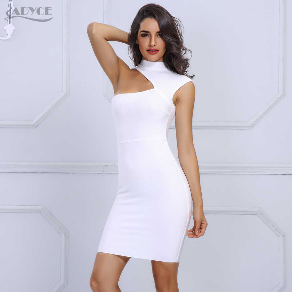 White One Shoulder Cut Out Bodycon Dress