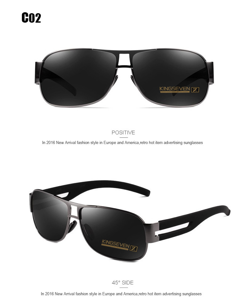 High Quality Alloy Polarized Sunglasses Men Vintage Male Sport Sun glasses Driving Google Eyewear Come with 6 Accessories K7806 7