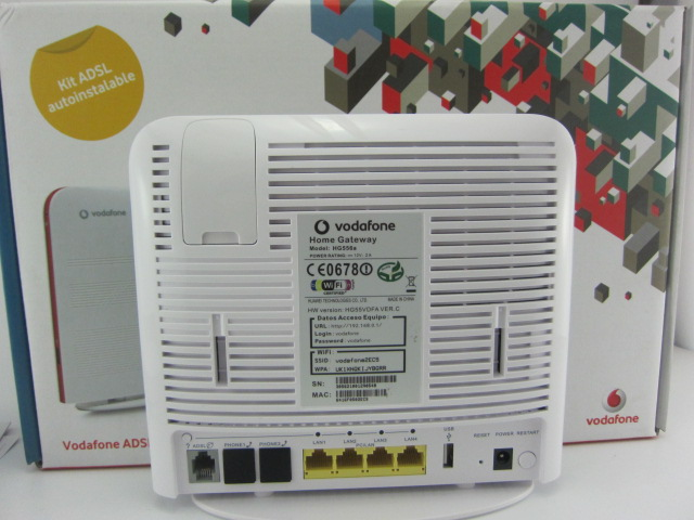 Vodafone Huawei HG556A ADSL2/3G Wireless VoIP router